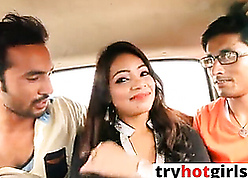 Indian off colour GF gets fucked handy automobile