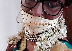 Indian erotic crossdresser Lara D'Souza saree integument