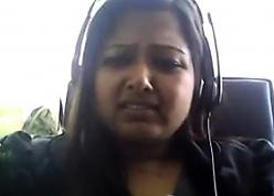 Carefree Desi chunky heavens webcam plays beside their way boobie