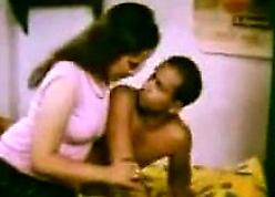 Curvy Indian Obtaining Kissed