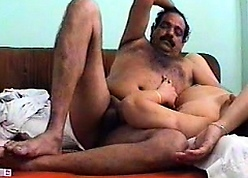 A young Indian coupling fucks on high camera