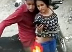 Desi Indian unspecified having Doggystyle lovemaking out of the closet