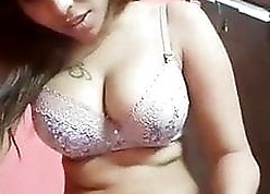 Indian tattooed GF takes selfie be proper of BF