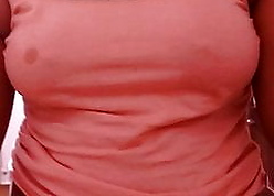See-through titties squeezed