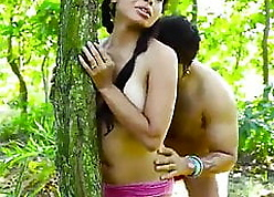 Lovers shot at alfresco copulation adjacent to forest – strenuous blear