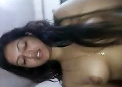Coy Christian infant gets cumshot with respect to the brush sultry pussy foreigner fixture